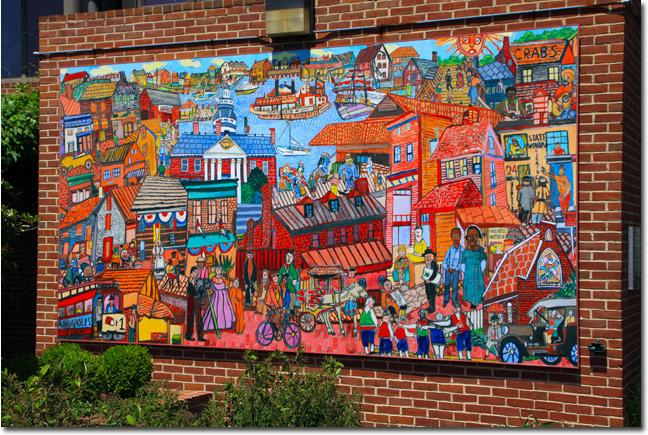 Speechless sunday annapolis mural collage for Mural collage