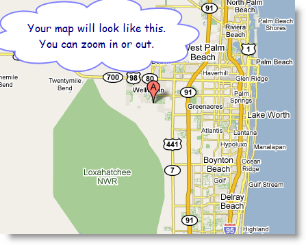 google map tutorial. Click on the red A flag on your map.