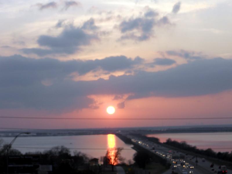 Sun Setting on Lake Ray Hubbard, TX