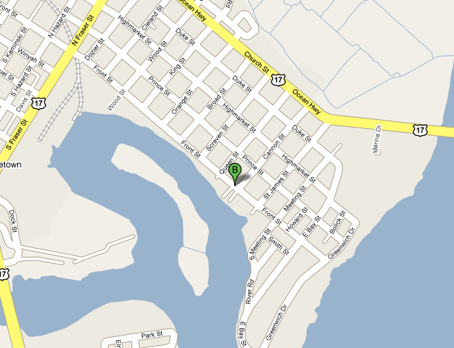 Map Of Historic Georgetown SC