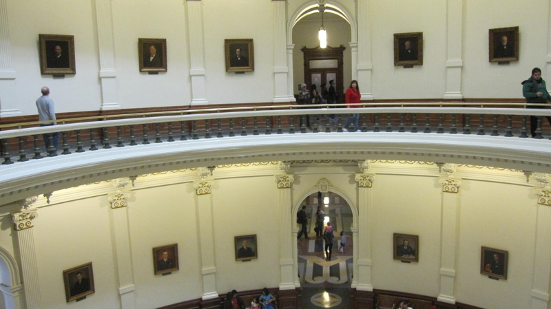 rotunda with portraits