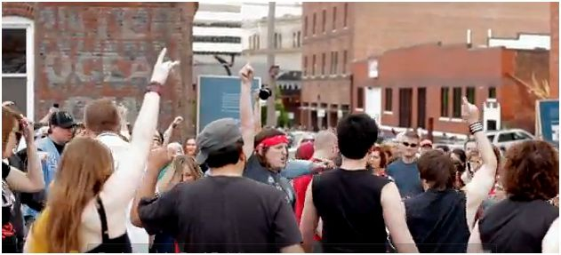 Kansas City First Fridays Air Guitar Flash Mob