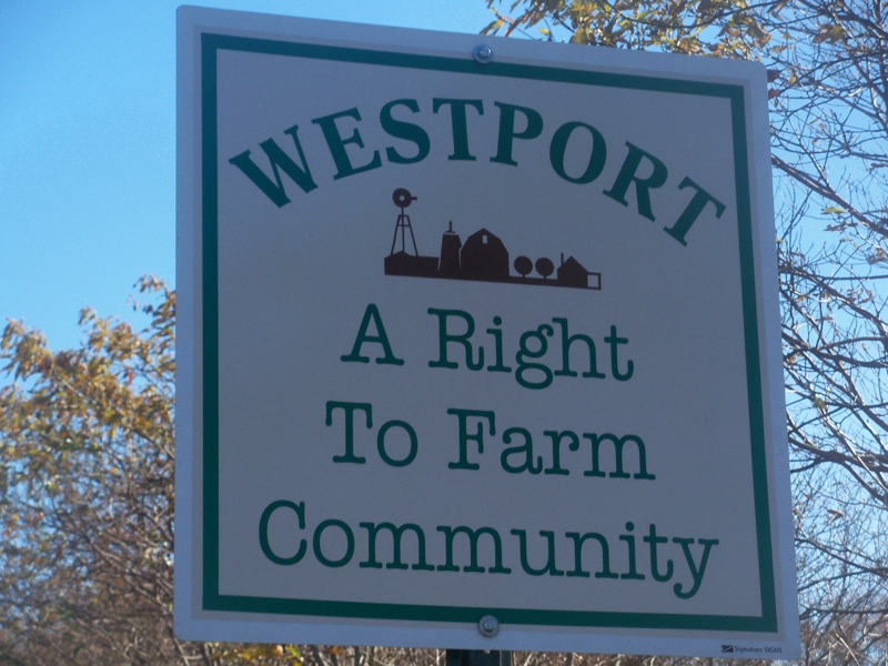 Westport a right to farm community