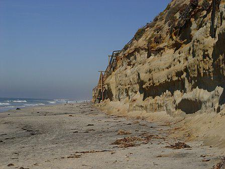The bluffs above Moonlight Beach in Encinitas CA