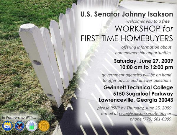 Senator Isakson's First-Time Homebuyer Forum