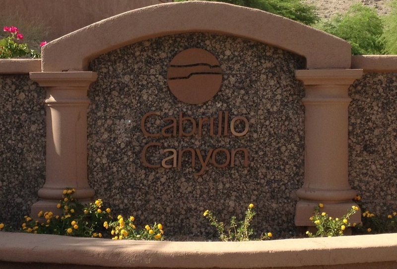 Cabrillo canyon in Ahwatukee Foothills