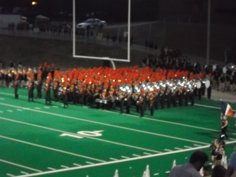 Seven Lakes band coming onto the Field
