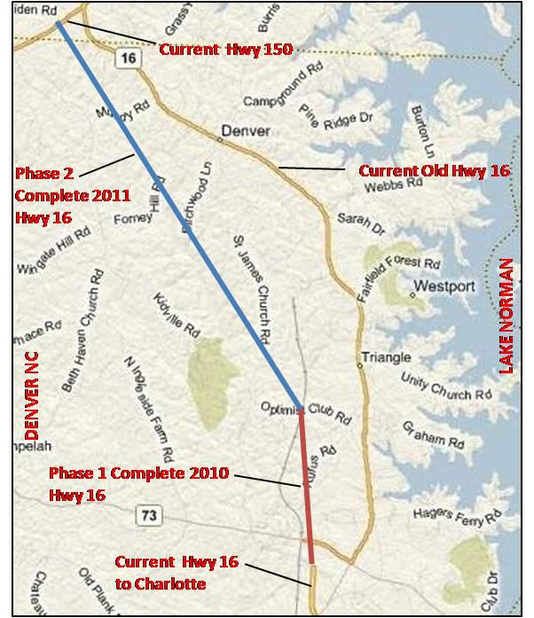 Lake Norman Nc Real Estate: NC HWY 16 Extension / Denver, NC / Lake Norman / Charlotte NC