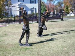 Stickball Park: 2 boys playing