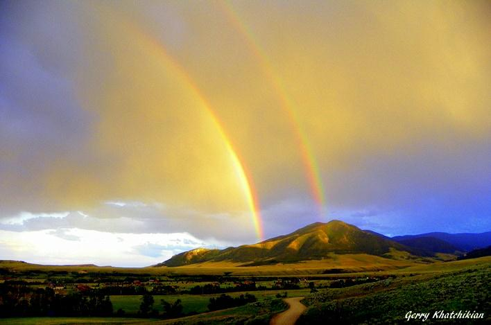 Double Rainbow Over Mount Maurice - Red Lodge, Montana - July 17, 2010