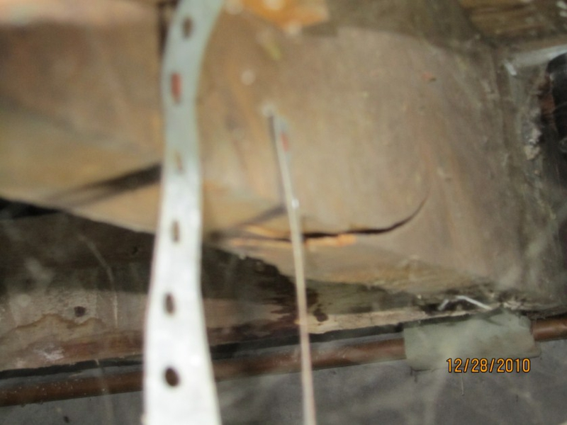 Footing & Bearing wall removed - Cracked floor joist