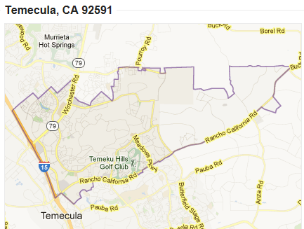 Zip Code 92591 Map Home For Sale In Temecula