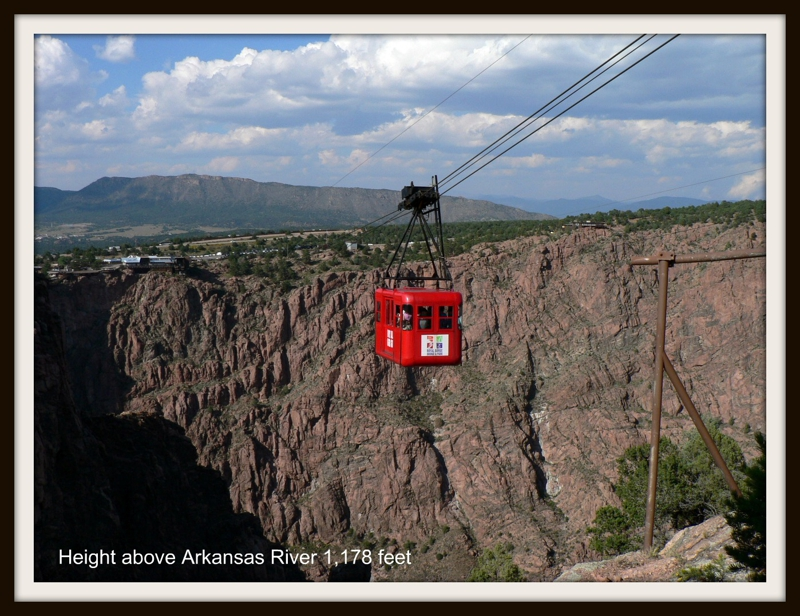 One of the worlds longest trams at Royal Gorge