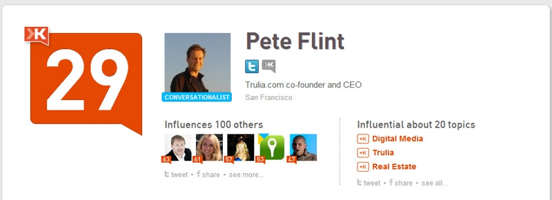 Klout Pete Flint