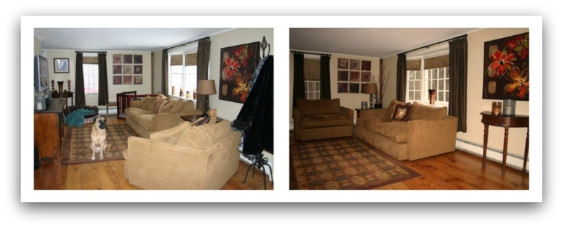 Before And After. 3. Furniture Rearranged.