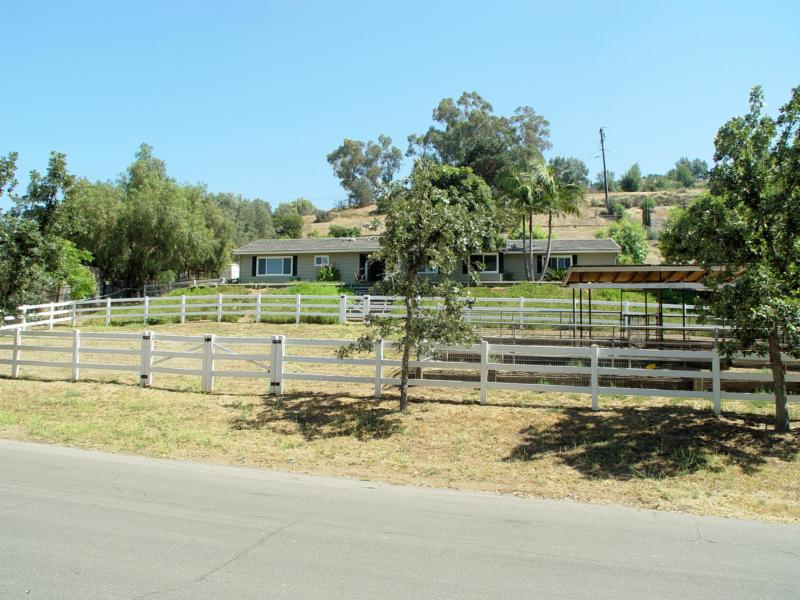 Ranch-Style Horse Property for Sale in Poway - Front View