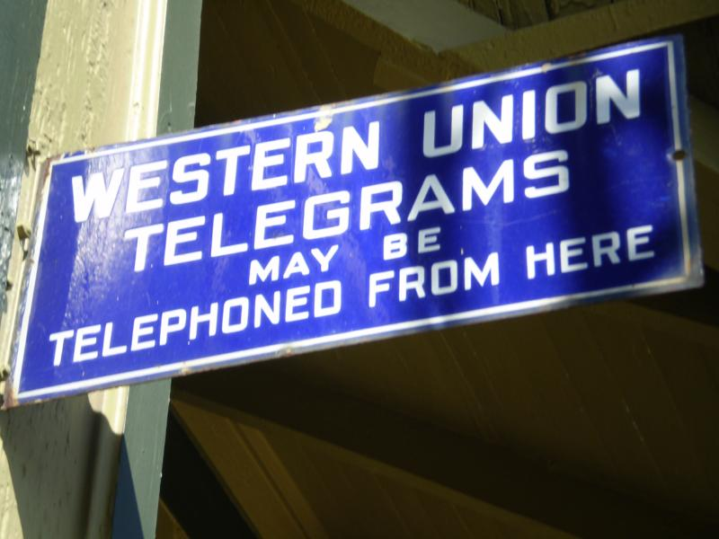 western union telegram sign