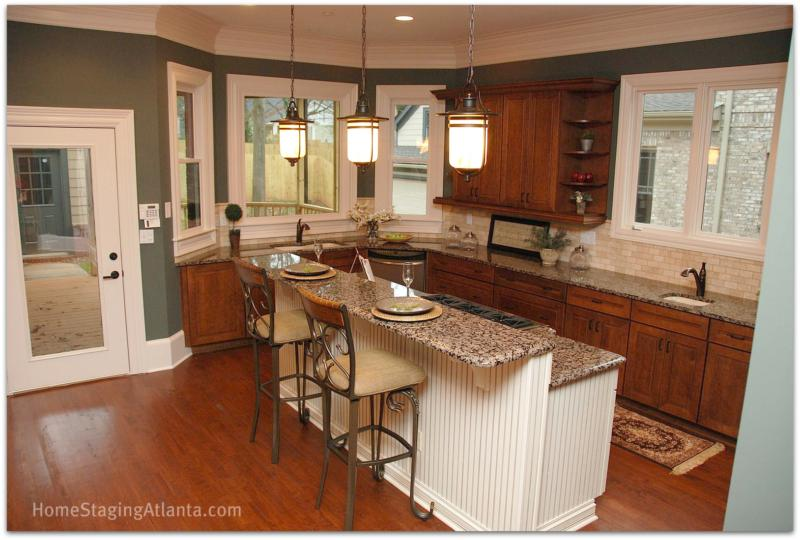 Home staging atlanta before and after pictures kitchens for Before and after staging