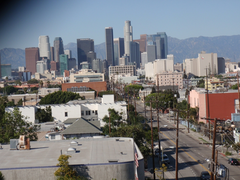 skyline of Downtown Los Angeles