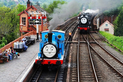Thomas the Tank Engine (Via Flickr, using a Creative Commons License from MarkyBon)