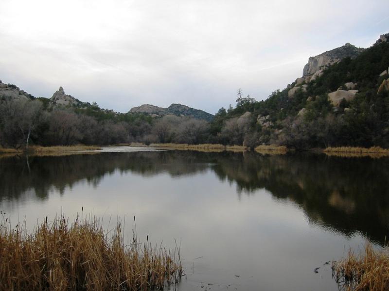 Granite Basin Lake at the foot of Granite Mountain