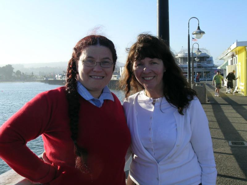Tisza Major-Posner and Mary Pope-Handy at the wharf in Santa Cruz