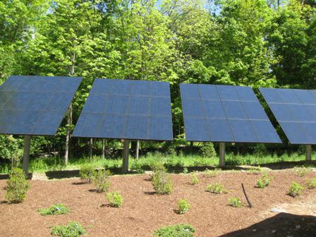 Solar PV panels at KANTOR PLATINUM LEED HOME, NEW CANAAN, CT.