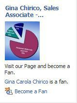 Facebook Fan Page for Gina Chirico Sales Associate, Prudential New Jersey Properties