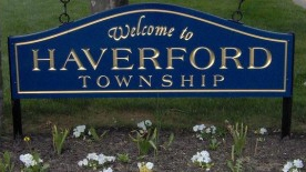 Welcome to Haverford Township sign