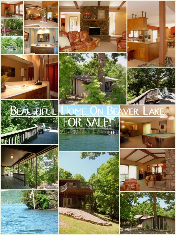 Beaver Lake Home for sale with private boat dock in Rogers, AR