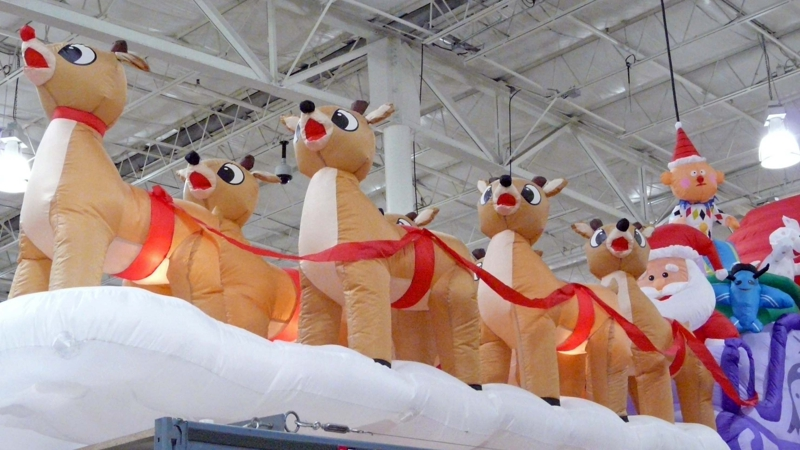 Inflatable Sleigh Santa And Reindeer Has A New Job For Rudolph