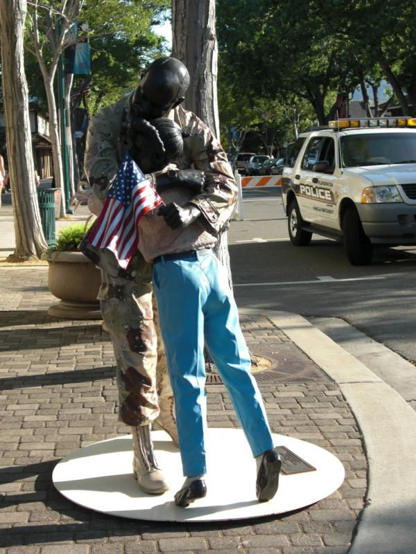 Soldier Hug, Pleasanton, CA
