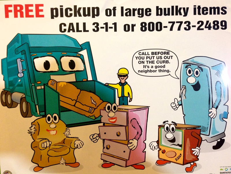 Reminding Free Bulky Item Pickup Los Angeles And Valley Ca