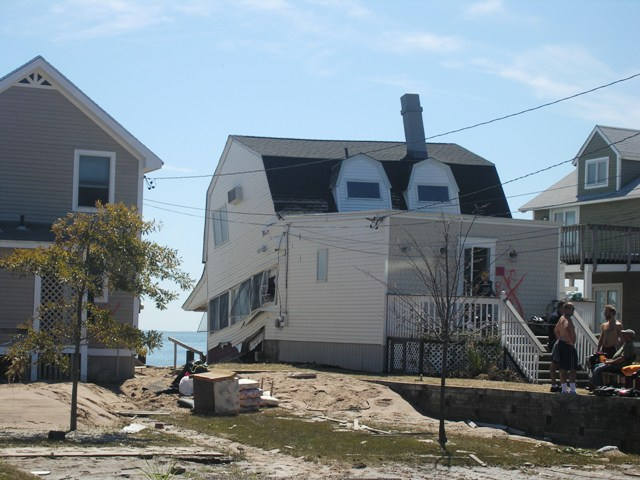 The Aftermath Of Hurricane Irene on Cosey Beach Avenue in East Haven Connecticut