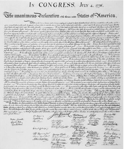 who signed  the declaration of independence last