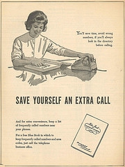 Vintage Phone Book Ad