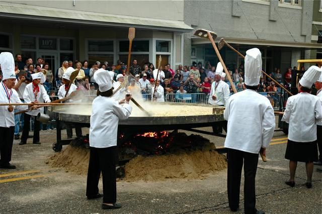 Giant Omelette Celebration in Abbeville, LA