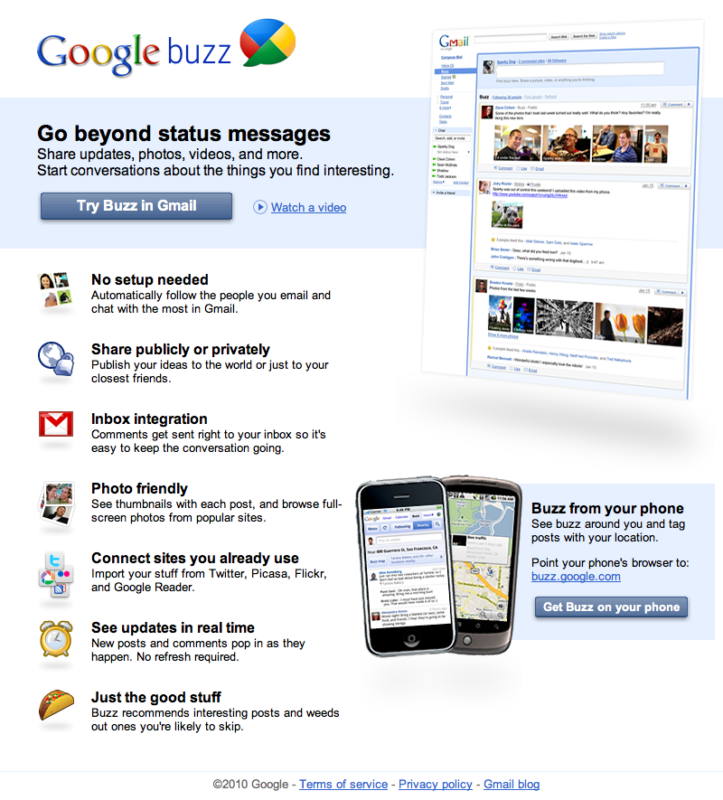 Google buzz social media marketing