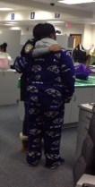 Raven's attire