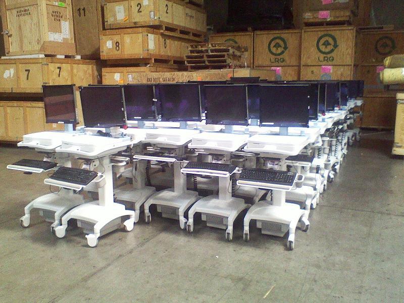 Portable Nursing computer workstations for sale