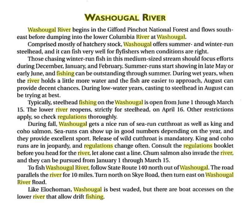 Steel head fishing on the washougal river washington real for Washougal river fishing