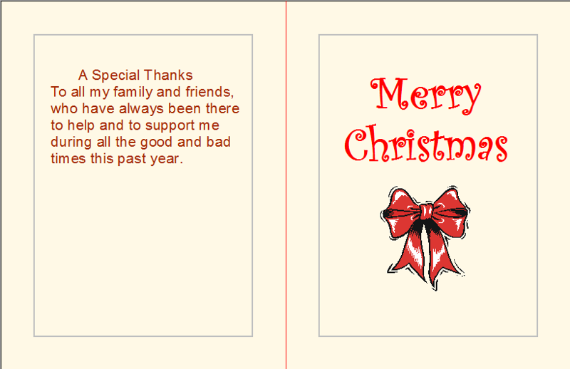 Holiday Greeting Card to Family and Friends