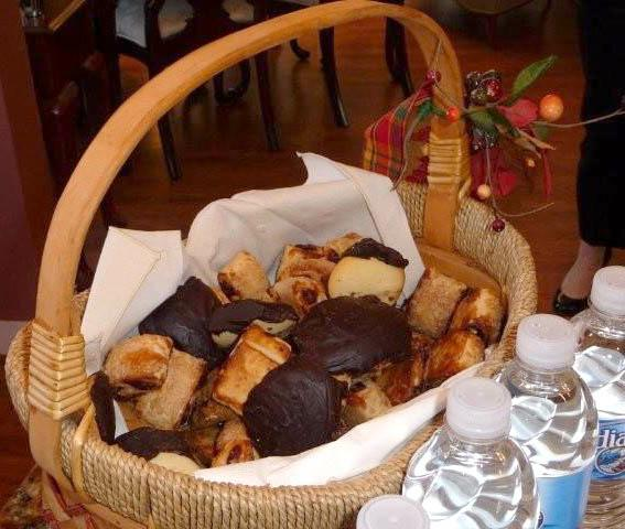 Cookie basket with Bergers Cookies on top