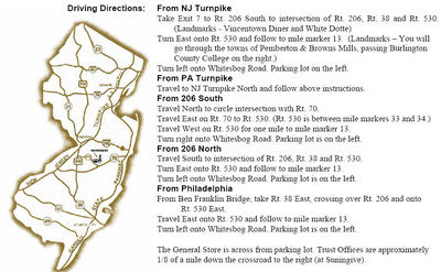 Driving Directions to Whitesbog Village, NJ