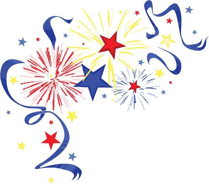 clipart of fireworks