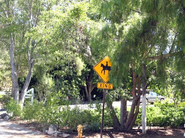Horse Crossing Sign in Palos Verdes