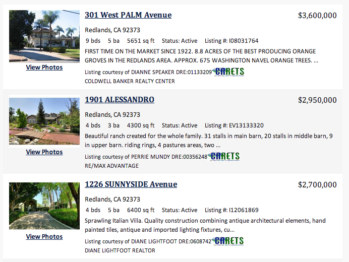 Redlands Million Dollar Homes for Sale