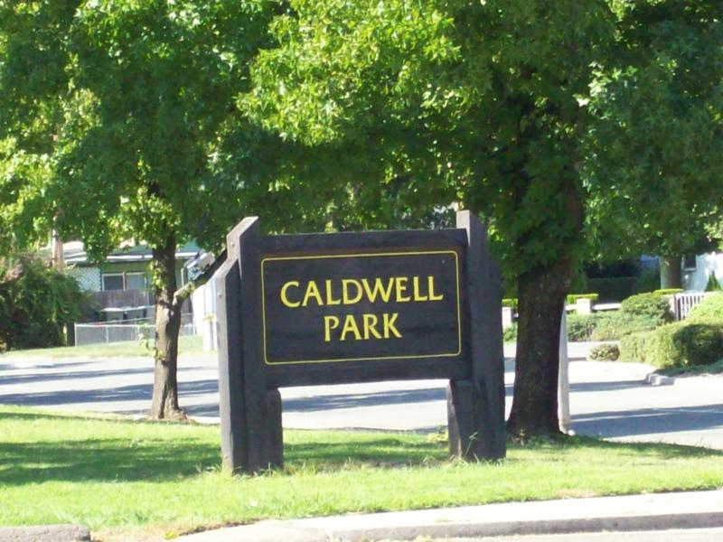 Caldwell Park Sign