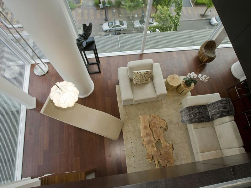 "Portland home staging ""after photo"" of penthouse"
