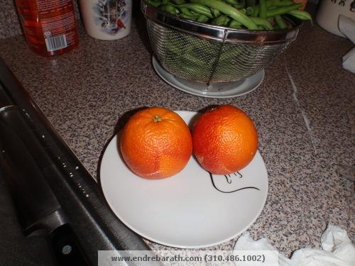 green beans & blood Oranges/Endre barath,Jr.